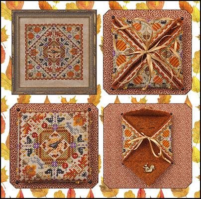 JN289 Autumn in the Meadow - Needle Case or Framed Design