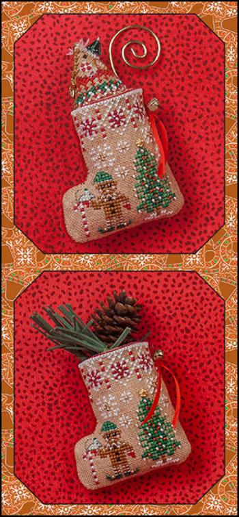 JN304 Gingerbread Mouse Elf Stocking