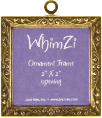 Just Nan WFABE01 Ant. Brass Embossed WhimZi Frame