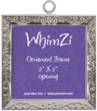 Just Nan WFSE01 Silver Embossed WhimZi Frame